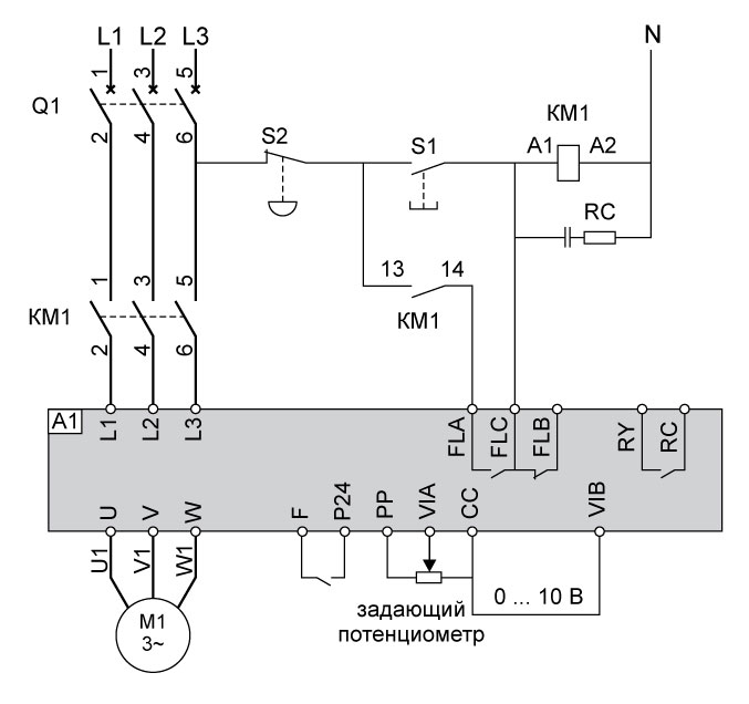 Настройка частотного преобразователя для электродвигателя