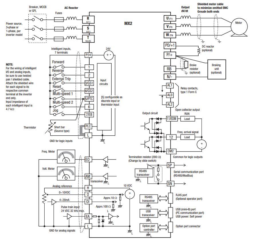 Преобразователь частоты Оmron МХ2