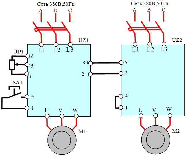 Преобразователь частоты для насоса схема