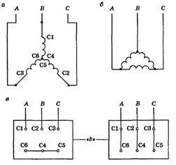 Электродвигатели асинхронные трехфазные схемы подключения