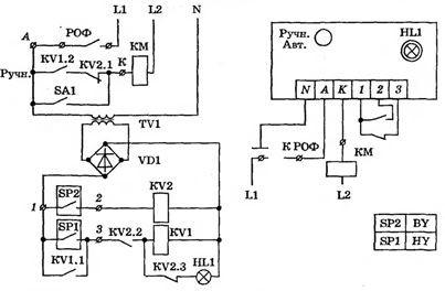 Схема подключения частотного преобразователя к насосу