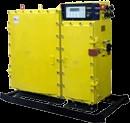 Частотные инверторы с защитой от взрыва служат для защищенной регулировки асинхронных электродвигателей с короткозамкнутым ротором для механизмов горного оборудования до 0,5 МВт. Частотники используются в опасных местах по добыче угля, где имеется опасность по пыли и метану, совместно с соответствующими приборами. Условное обозначение преобразователей с защитой от взрыва: ПЧВ – Х – ХХХ У5, где: • П – преобразователь. • Ч – частота. • В – взрывозащищенный. • Х – тип исполнения по применяемости. • У – исполнение по условиям климата. • 5 – категория места установки. По применяемой области частотные преобразователи подразделяются по типу исполнения: • ПЧВ – П - ХХХ У5 – работа подъемных агрегатов под землей. • ПЧВ - К - ХХХ У5 – ленточные конвейерные линии. • ПЧВ – С - ХХХ У5 –скребковые конвейерные линии. • ПЧВ – М - ХХХ У5 – грунтовые и однорельсовые дороги. Исполнения по типу защиты от взрыва: • РВ 3ВИ а – на Российский рынок. • ЕхdiaI – поставки в другие страны. Условия работы преобразователя частоты • Температура воздуха среды +5 +35 С. • Наибольшая величина влажности при t воздуха +35 С – 98%. • Содержание пыли в воздухе не выше 1,2 г / м3. • Отклонение от горизонтали на угол не выше 15 градусов. • Интервал колебаний напряжения питания от номинала 0,85 – 1,1 раза. Функциональные особенности • Плавное регулирование и ускорение вращения электродвигателя механизма. • Экономия энергии за счет уменьшения скорости, работоспособности конвейера в автоматическом режиме. Блокировки и защитные функции • Токовая блокировка от перегрузки электродвигателя. • Нулевая блокировка. • Наибольшая блокировка цепей отхода. • Блокировка перегрева электромотора. • Блокировка перегрева силовых тиристоров и транзисторов. • Контроль предупреждения нарушения изоляции токовых цепей отхода. • Блокировка от короткого замыкания в схеме цепей удаленного управления. • Блокировка утечек цепи комбинирования вместе с прибором, подключенным в нагрузочной подстанции. • Электрозащита от выключения разъе