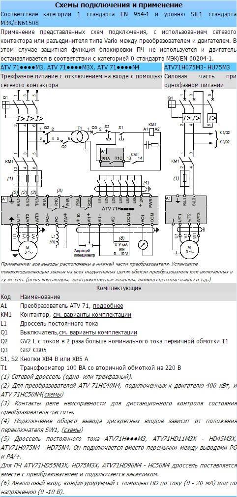 Схемы Altivar 71
